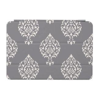 ダマスク織の灰色の装飾用の大きいPtnのクリーム iPad Miniカバー