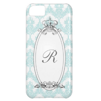 ダマスク織の王冠iPhone5 Case_Mint iPhone5Cケース