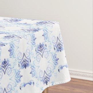 ダマスク織の花柄パターン テーブルクロス