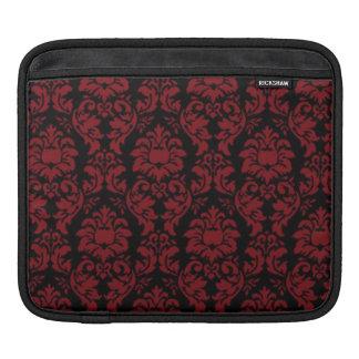 ダマスク織の赤く及び黒いゴシック様式iPadの袖 iPadスリーブ