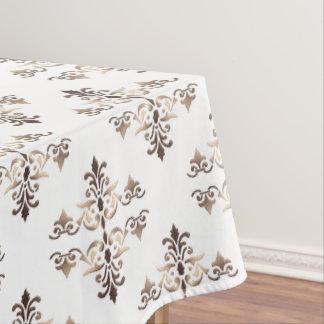 ダマスク織の金パターン テーブルクロス
