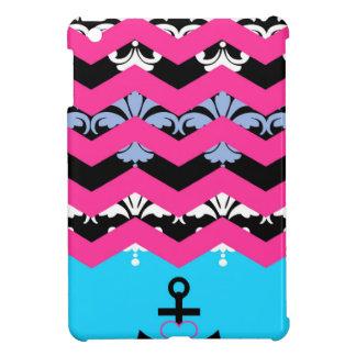 ダマスク織シェブロン iPad MINI カバー
