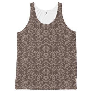 ダマスク織パターン6 オールオーバープリントタンクトップ