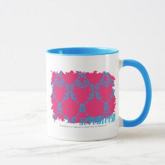 ダマスク織水マゼンタの3 マグカップ