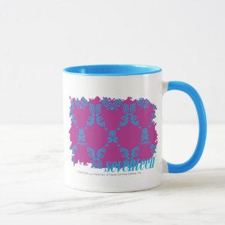 ダマスク織水紫色の2 マグカップ