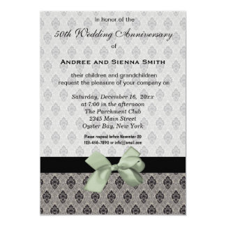 ダマスク織第50の結婚記念日 カード