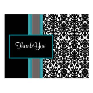 ダマスク織|ありがとう|カード 葉書き