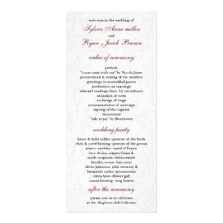 ダマスク織|結婚|プログラム オリジナルラックカード