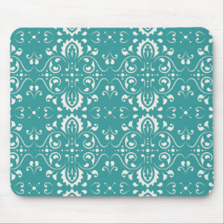 ダマスク織-青 マウスパッド