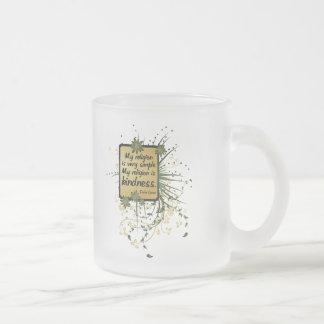 ダライ・ラマの宗教の引用文 フロストグラスマグカップ