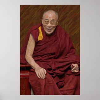 ダライ・ラマ仏の仏教の仏教の黙想Yog ポスター