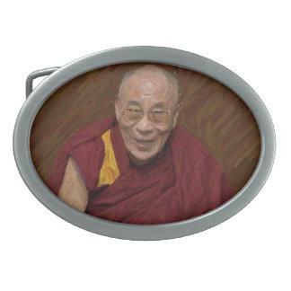 ダライ・ラマ仏の仏教の仏教の黙想Yog 卵形バックル