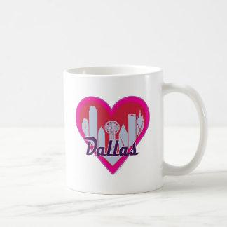 ダラスのスカイラインのハート コーヒーマグカップ