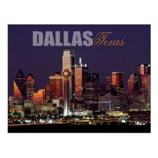 ダラスのテキサス州のスカイライン ポストカード