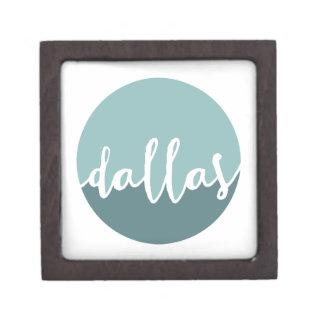 ダラスのテキサス州|の青くグラデーションな円 ギフトボックス