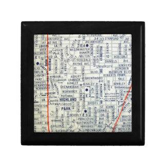 ダラスのヴィンテージの地図 ギフトボックス
