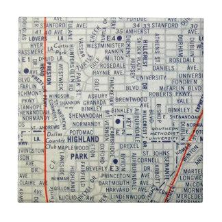 ダラスのヴィンテージの地図 タイル