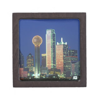 「ダラスの懇親会Towerの夜のTXのスカイライン ギフトボックス