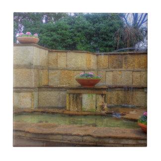 ダラスの植物園および植物園の入口 タイル