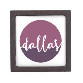 ダラスのTexas|の紫色のグラデーションな円 ギフトボックス