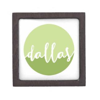ダラスのTexas|の緑のグラデーションな円 ギフトボックス