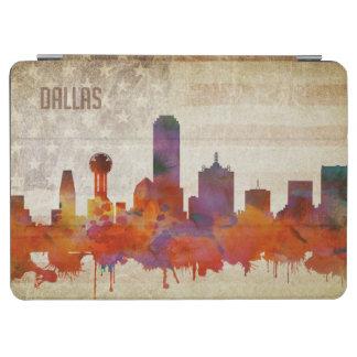 ダラスのTX  の水彩画都市スカイライン iPad AIR カバー