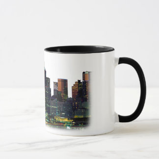 ダラステキサス州のスカイラインの白いコーヒー・マグ マグカップ