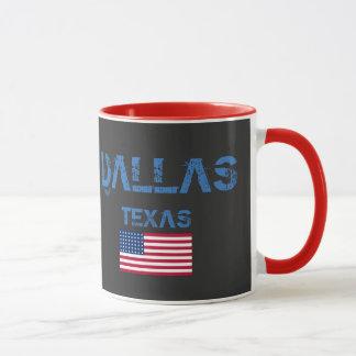ダラステキサス州の旗のマグ マグカップ