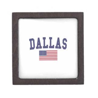 ダラス米国の旗 ギフトボックス