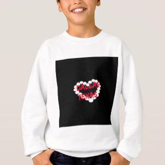 ダラス、テキサス州のための蝋燭のハートのデザイン スウェットシャツ