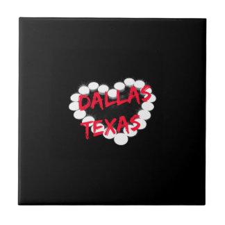 ダラス、テキサス州のための蝋燭のハートのデザイン タイル