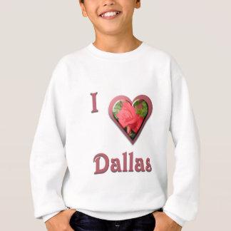 ダラス -- 赤いバラを使って スウェットシャツ