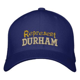 ダラムの帽子を表して下さい 刺繍入りキャップ