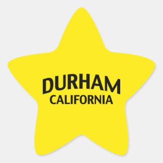 ダラムカリフォルニア 星シール