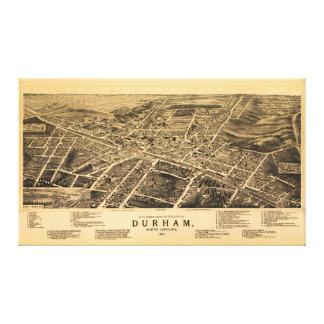ダラム、ノースカロライナ(1891年)の鳥瞰的な眺め キャンバスプリント