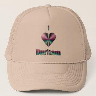 ダラム -- 紫色及びターコイズ キャップ