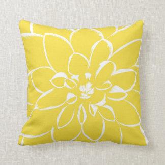 ダリアのキンボウゲ の黄色い花 クッション