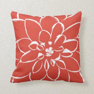 ダリアのフェスタ の赤い花 クッション