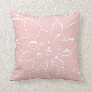 ダリアのローズクォーツ のピンクの花 クッション
