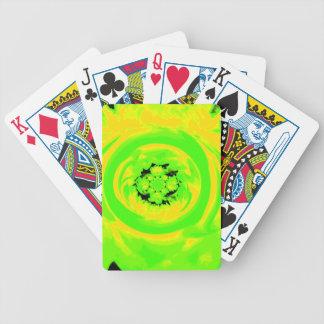 ダリアの抽象芸術、黄色い緑 バイスクルトランプ
