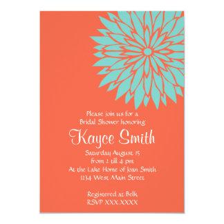 ダリアの珊瑚の花の招待状 カード