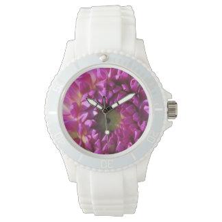 ダリアの紫色の花園の植物 腕時計
