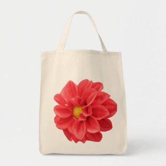 ダリアの花の写実的な食料雑貨のトートバック トートバッグ