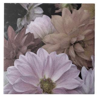 ダリアの花園の抽象芸術の花のセラミックタイル タイル