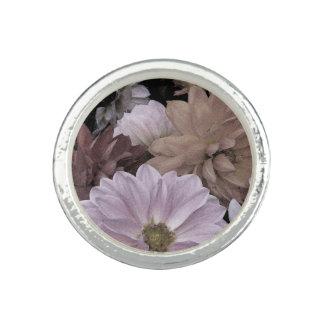 ダリアの花園の抽象芸術の花のリング 指輪