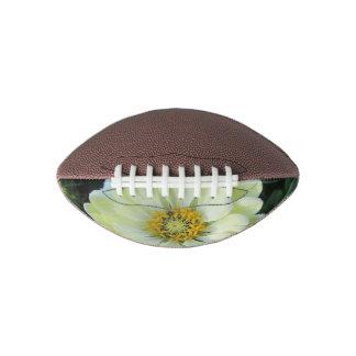 ダリアの薄黄色の花 アメリカンフットボール