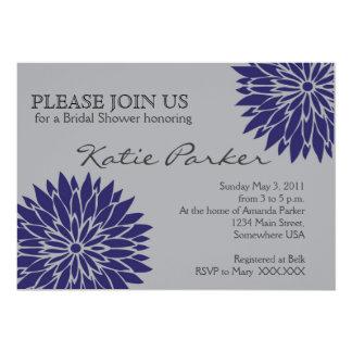 ダリアの青の花 カード