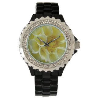 ダリアの黄色い角度の花 腕時計