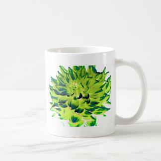 ダリア-新婚旅行-地球の調子-緑 コーヒーマグカップ