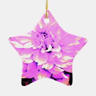 ダリア-新婚旅行-放射果樹園-薄紫 陶器製星型オーナメント